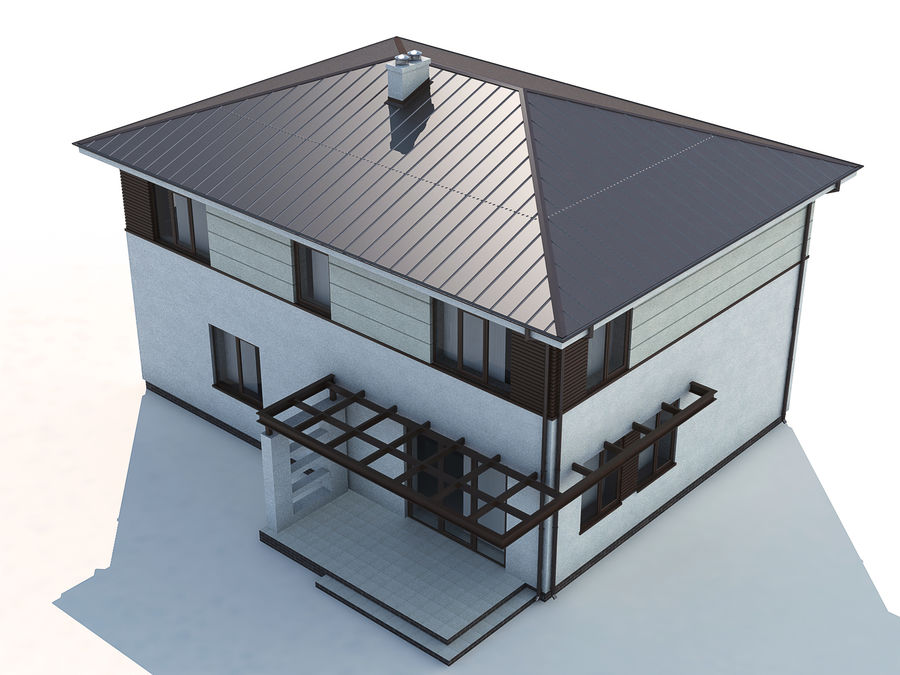 Cottage House royalty-free 3d model - Preview no. 5
