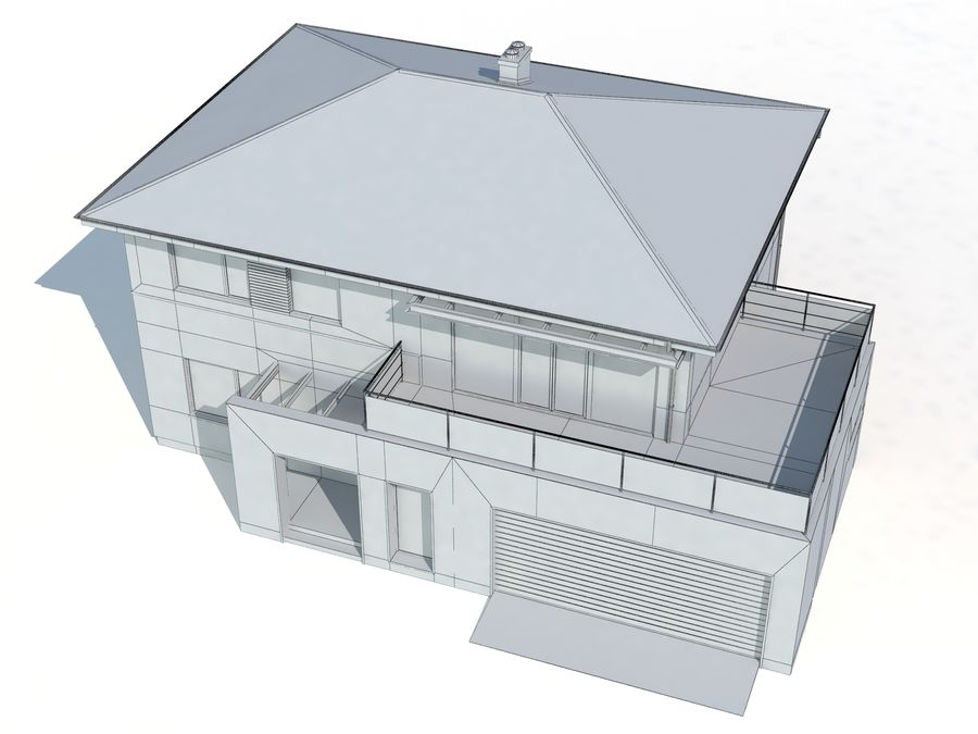 Cottage House royalty-free 3d model - Preview no. 7