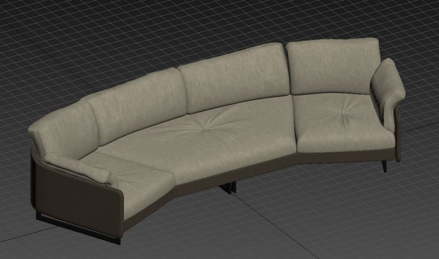 Sofa Swing royalty-free 3d model - Preview no. 5