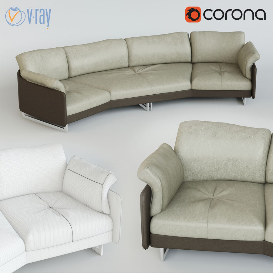 Sofa Swing royalty-free 3d model - Preview no. 1
