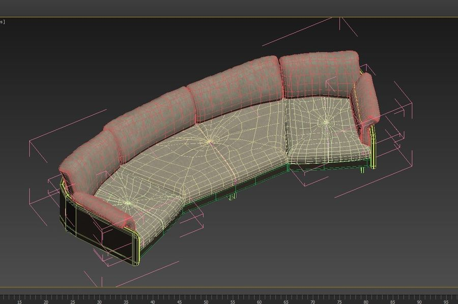 Sofa Swing royalty-free 3d model - Preview no. 9