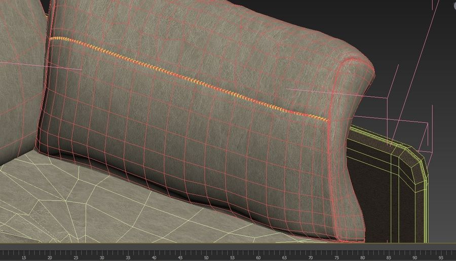 Sofa Swing royalty-free 3d model - Preview no. 11
