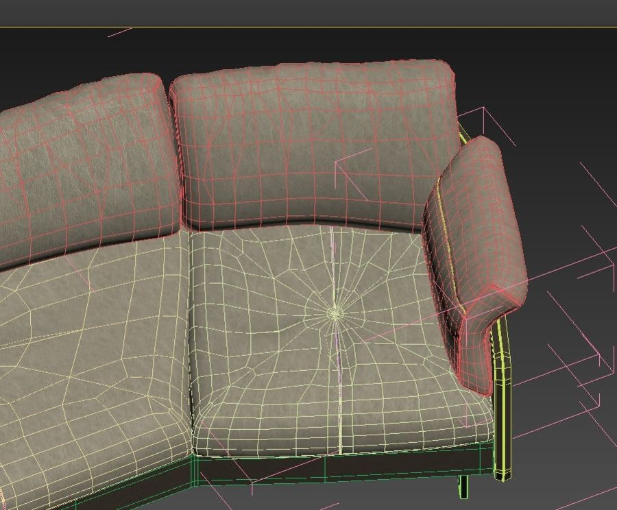 Sofa Swing royalty-free 3d model - Preview no. 10
