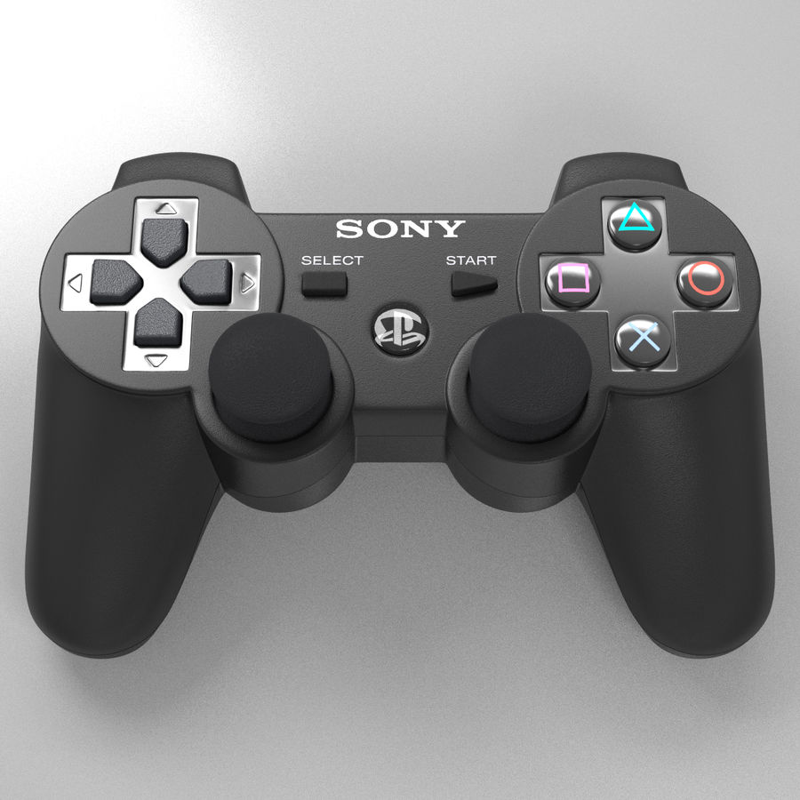 Joystick PS3 royalty-free 3d model - Preview no. 3