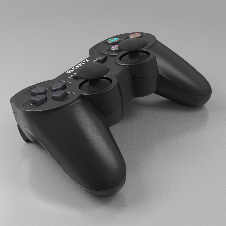 Joystick PS3 royalty-free 3d model - Preview no. 2