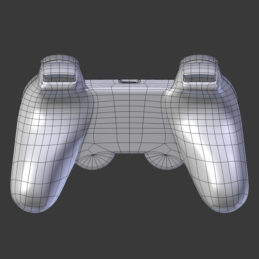 Joystick PS3 royalty-free 3d model - Preview no. 6