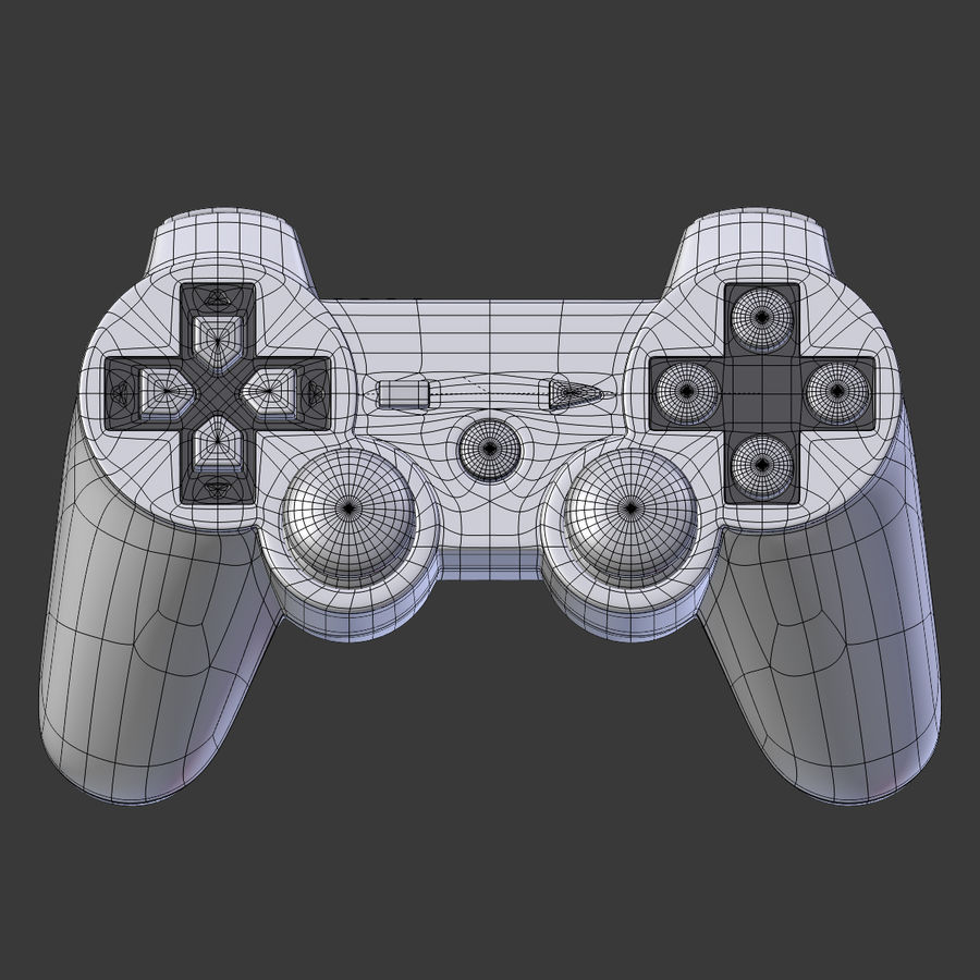 Joystick PS3 royalty-free 3d model - Preview no. 5