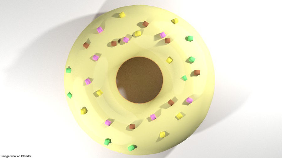 Bread - Donut royalty-free 3d model - Preview no. 3