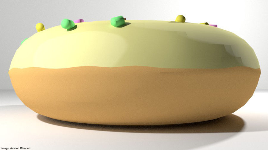 Bread - Donut royalty-free 3d model - Preview no. 2