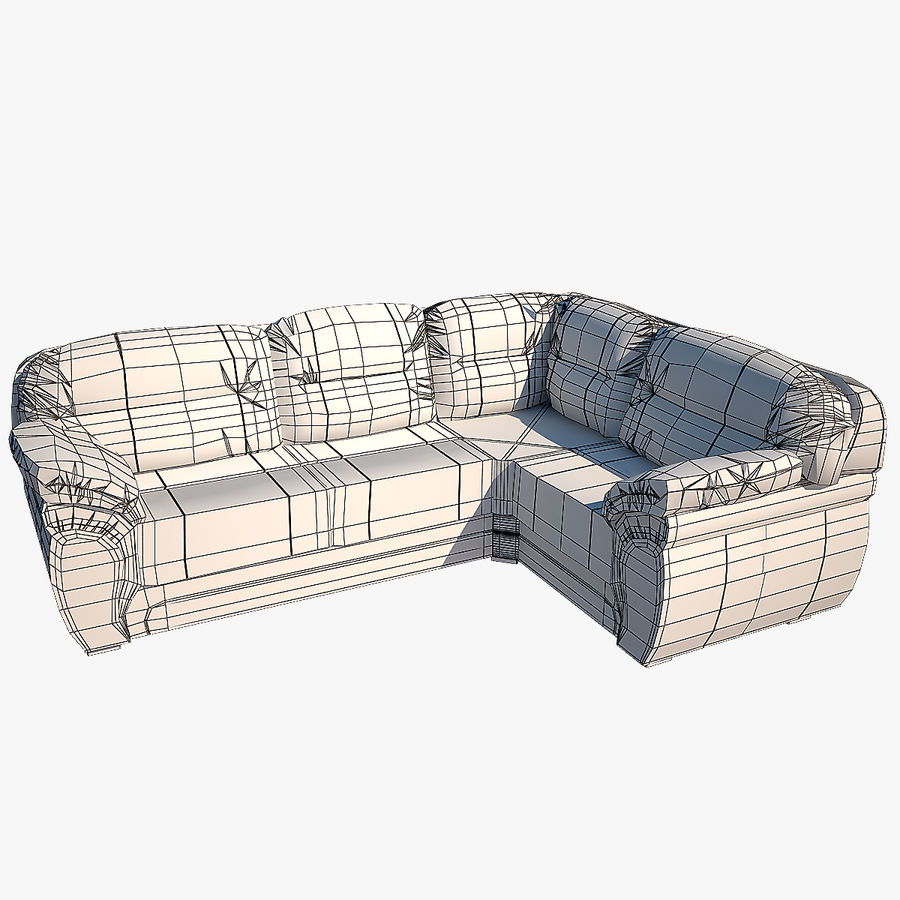 Sofa narożna Bristol royalty-free 3d model - Preview no. 7