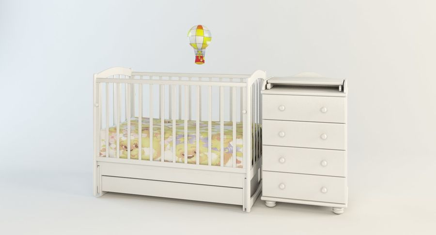 Baby Room Furniture Set Cot With, Baby Room Furniture