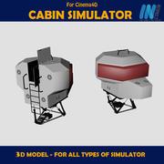 Cabine simulador 3d model