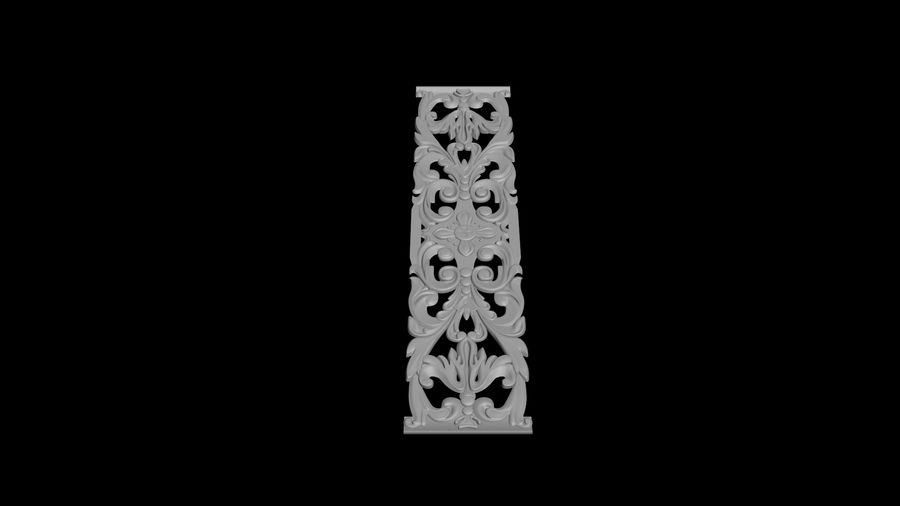 The bas-relief architectural decor royalty-free 3d model - Preview no. 4
