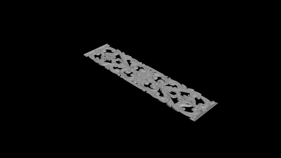 The bas-relief architectural decor royalty-free 3d model - Preview no. 5