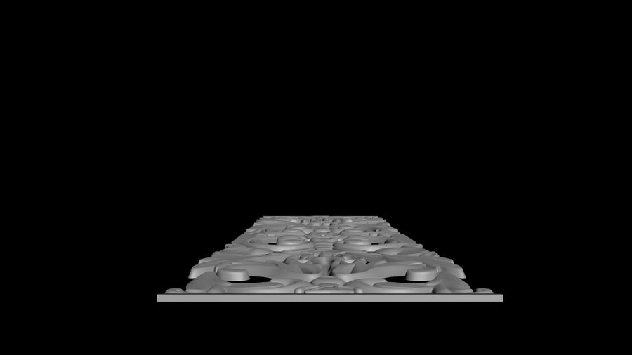 The bas-relief architectural decor royalty-free 3d model - Preview no. 2