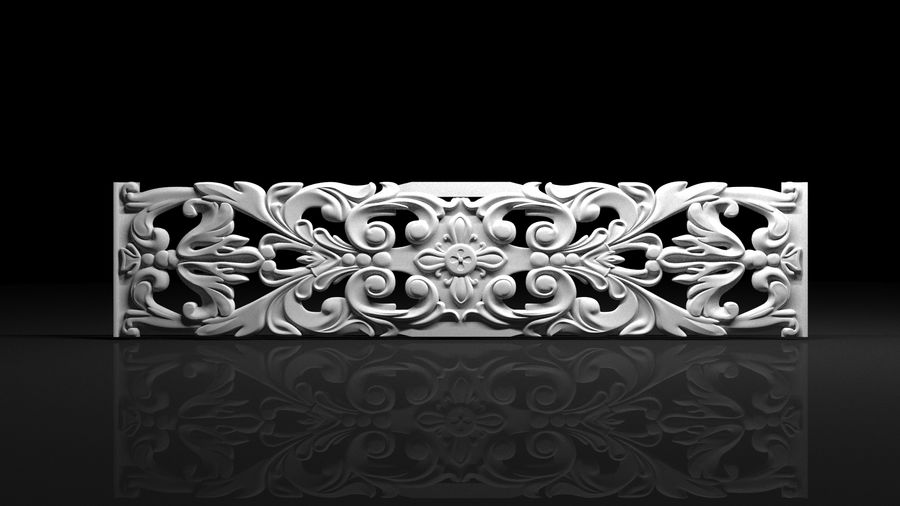 The bas-relief architectural decor royalty-free 3d model - Preview no. 1