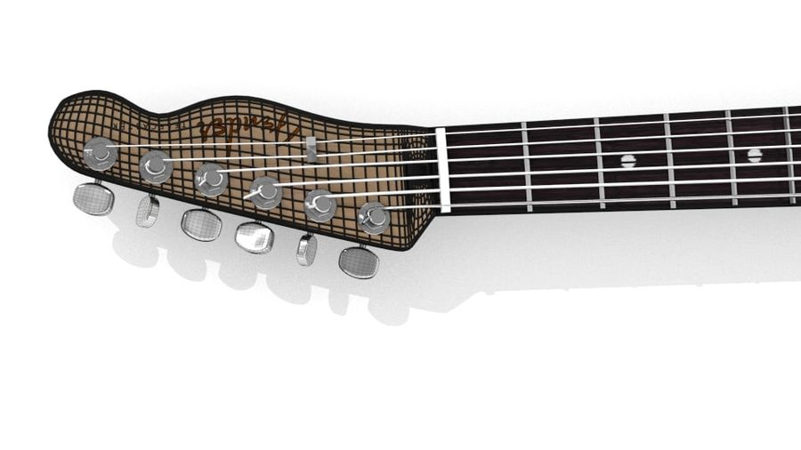 Fender telecaster royalty-free 3d model - Preview no. 8
