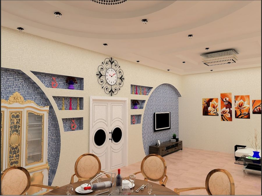 interior design royalty-free 3d model - Preview no. 3