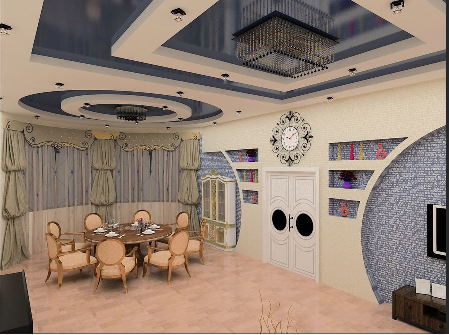 interior design royalty-free 3d model - Preview no. 7