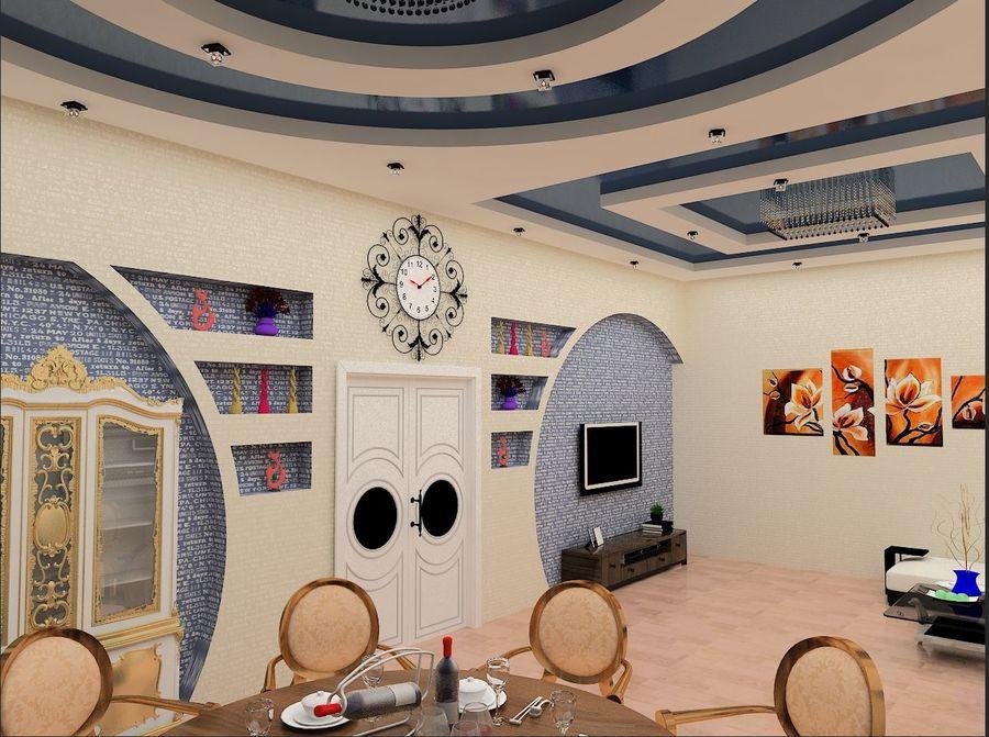 interior design royalty-free 3d model - Preview no. 4
