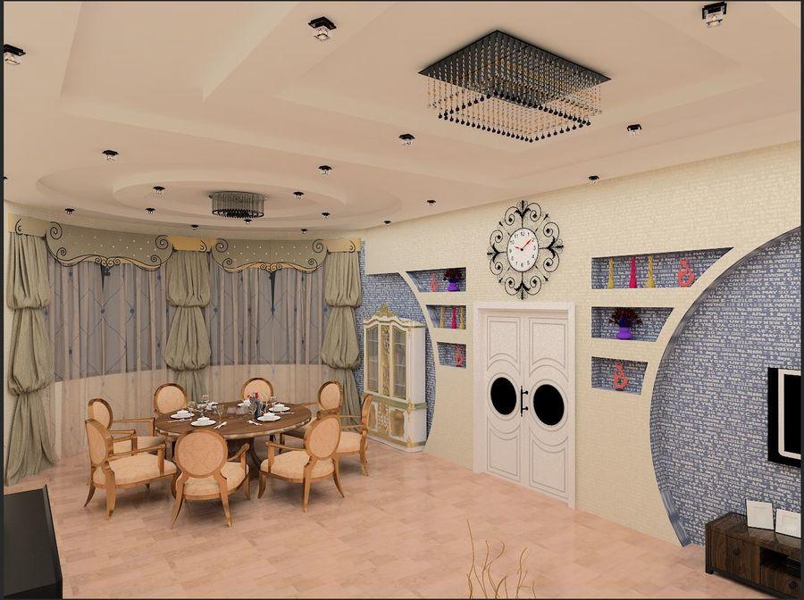 interior design royalty-free 3d model - Preview no. 6