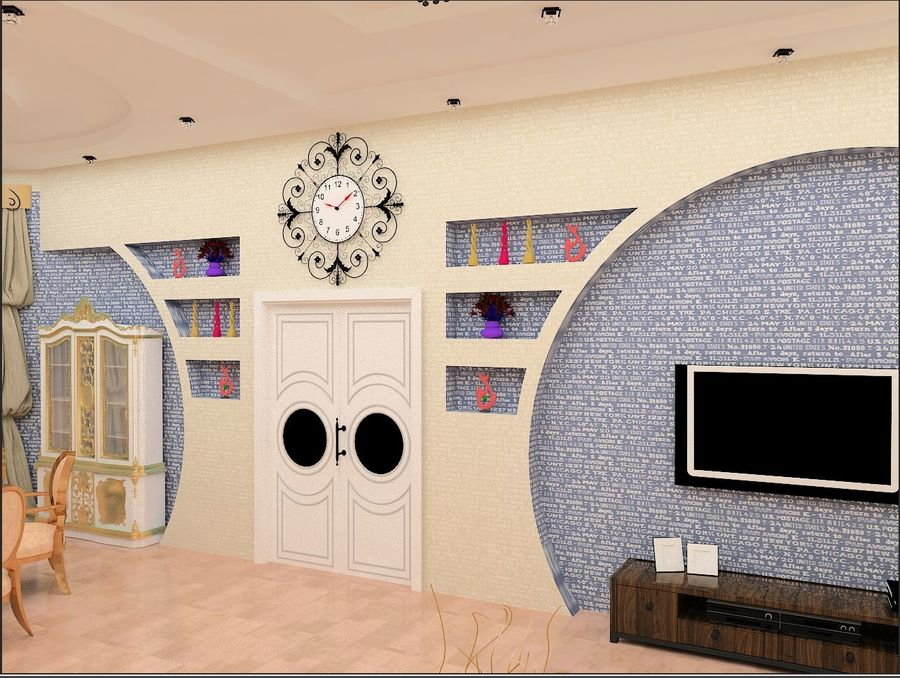 interior design royalty-free 3d model - Preview no. 1