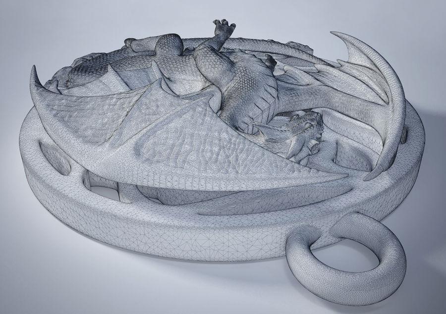 Pingente de dragão (imprimível) royalty-free 3d model - Preview no. 6
