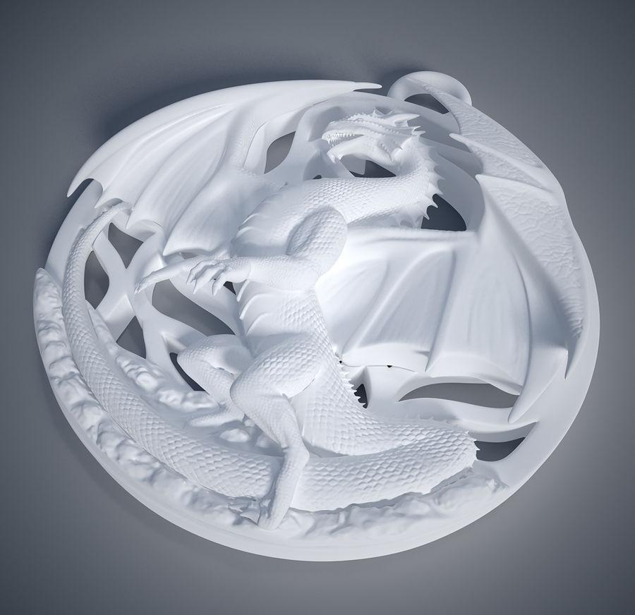Pingente de dragão (imprimível) royalty-free 3d model - Preview no. 5