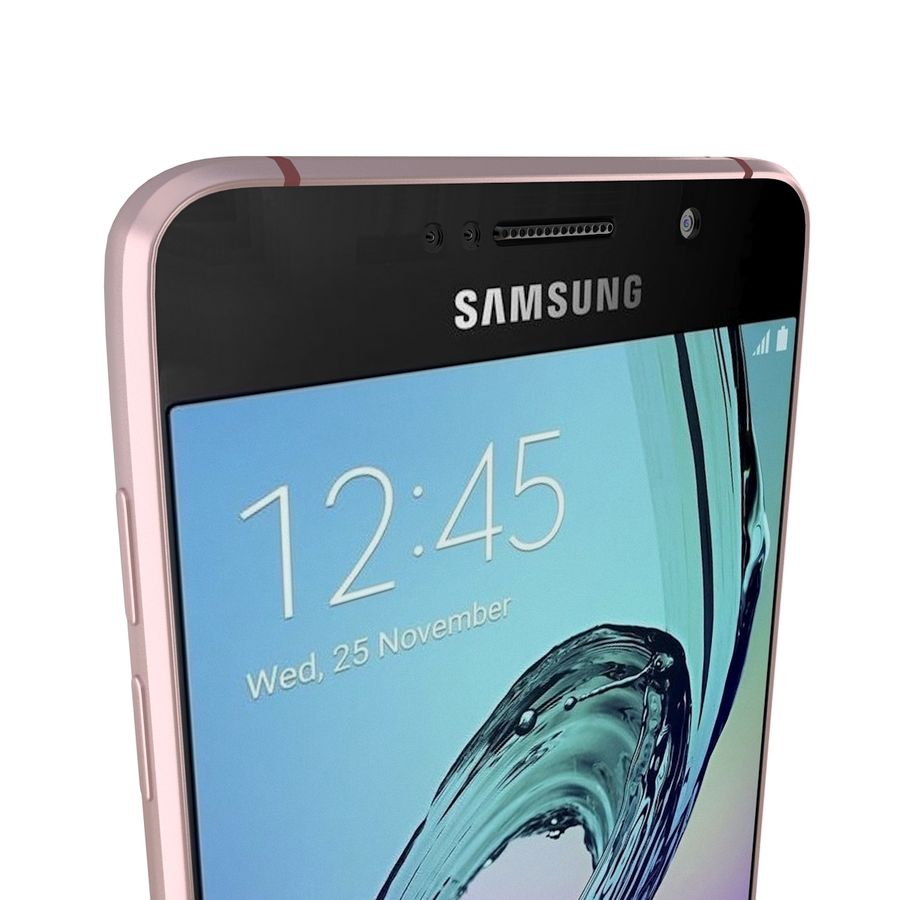Samsung Galaxy A5 (2016) rosa royalty-free 3d model - Preview no. 10