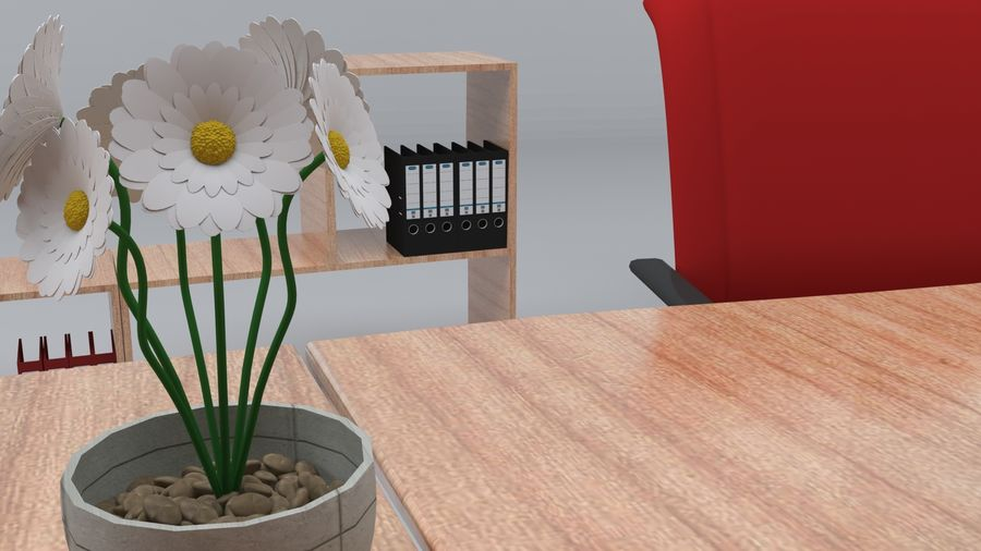 Mesa de escritório royalty-free 3d model - Preview no. 4