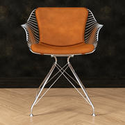 Wire dinning chair 3d model