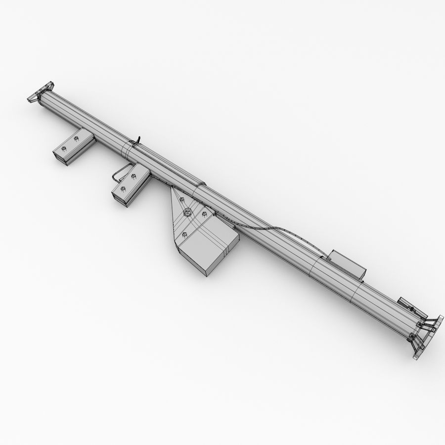 M1 Bazooka royalty-free 3d model - Preview no. 5