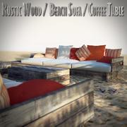 Rustik trämöbler 3d model