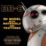 BB-8 Star Wars Droid 3D Model with Materials & Textures 3d model