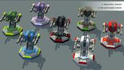 Lowpoly Sci-Fi: Modüler Taretler 3d model