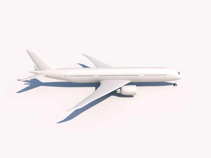 空中客车A350-900 royalty-free 3d model - Preview no. 5