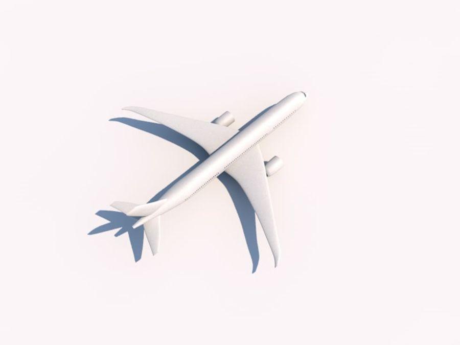 空中客车A350-900 royalty-free 3d model - Preview no. 2