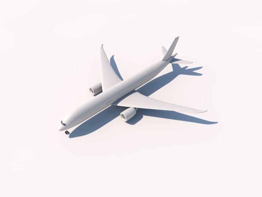 空中客车A350-900 royalty-free 3d model - Preview no. 1