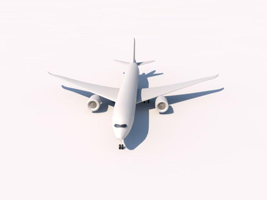 空中客车A350-900 royalty-free 3d model - Preview no. 4