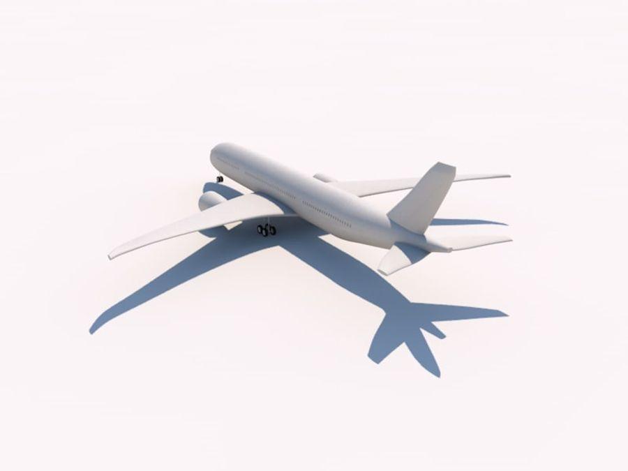 空中客车A350-900 royalty-free 3d model - Preview no. 3