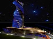 建筑塔 3d model