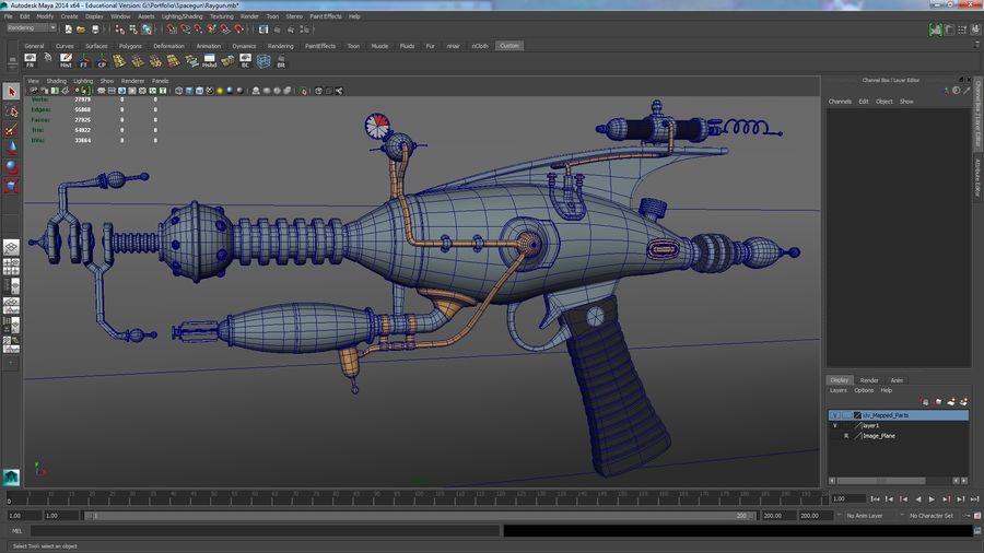射线枪 royalty-free 3d model - Preview no. 4