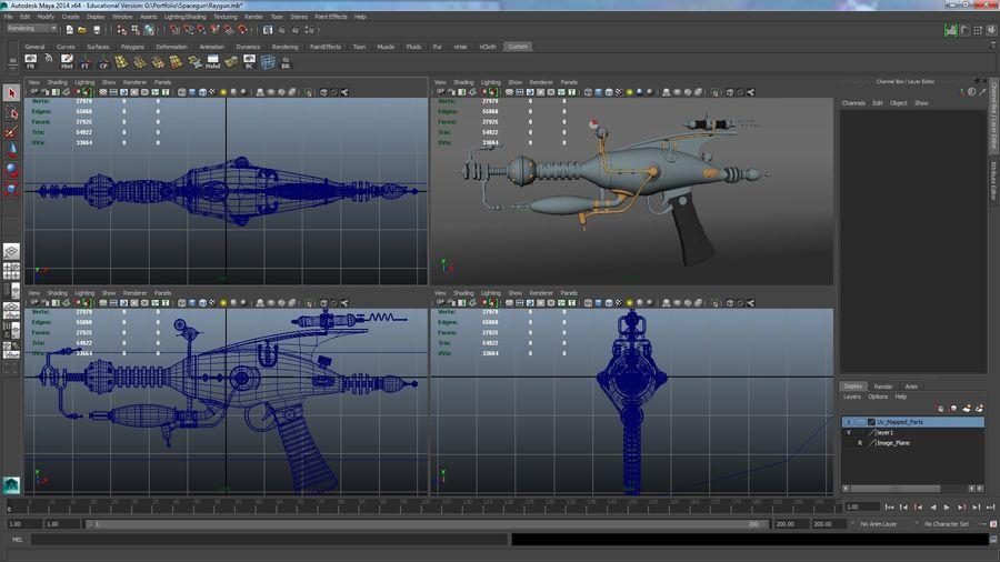 射线枪 royalty-free 3d model - Preview no. 5