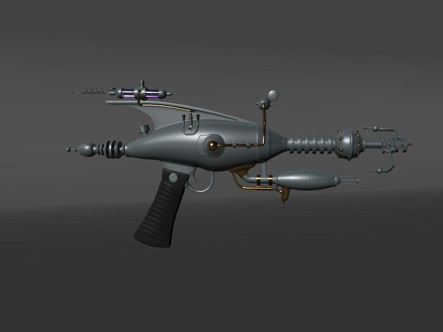 射线枪 royalty-free 3d model - Preview no. 2
