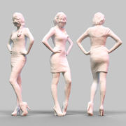 构成1的女孩 3d model