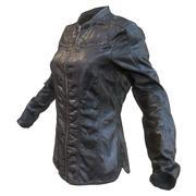 Zwart leren overhemd donker 3d model