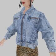 Vintage jeansjasje 3d model