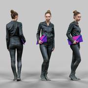 Vrouw in het zwart 3d model