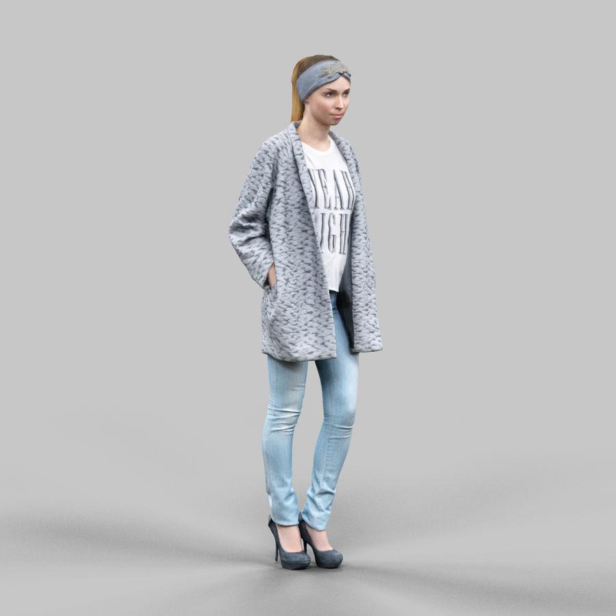 청바지와 카디건 소녀 royalty-free 3d model - Preview no. 2