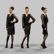 Secretaris Look Girl 3d model